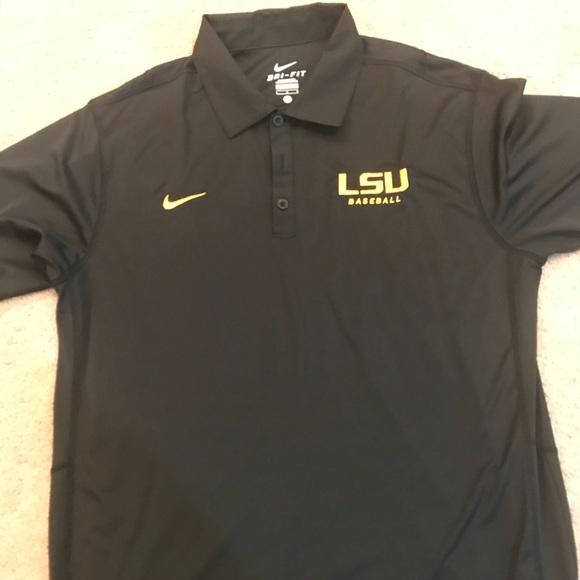 brand new 47942 4c1bf LSU Baseball Nike Polo